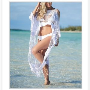 White crochet knit cover-up